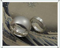 Trouwringen zilver brede en smalle variant