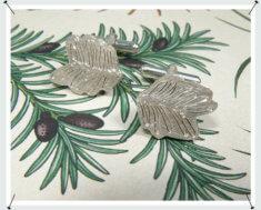 Manchetknopen, Hortus collectie, Taxus, zilver.